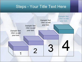 Abstract blue metallic PowerPoint Template - Slide 64