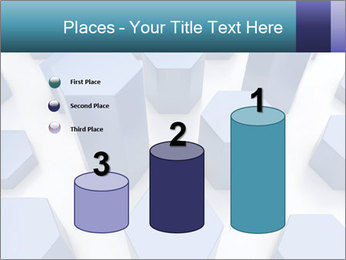 Abstract blue metallic PowerPoint Template - Slide 65