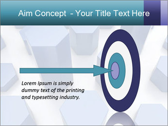 Abstract blue metallic PowerPoint Template - Slide 83