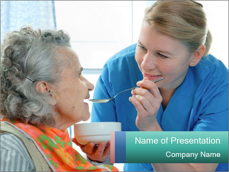 Senior woman PowerPoint Templates