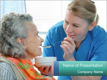 Senior woman PowerPoint Template - Slide 1