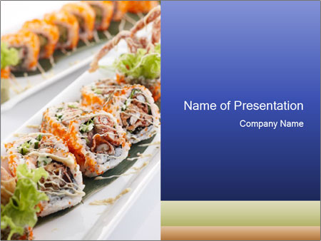 Delicious spider roll PowerPoint Templates