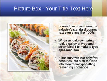 Delicious spider roll PowerPoint Template - Slide 13