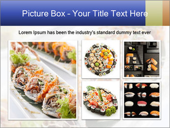 Delicious spider roll PowerPoint Template - Slide 19