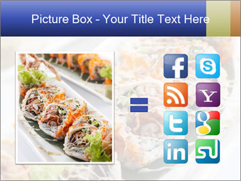Delicious spider roll PowerPoint Template - Slide 21
