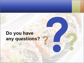 Delicious spider roll PowerPoint Template - Slide 96