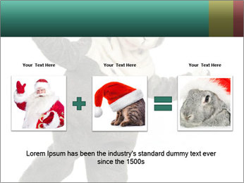 Funny grey rabbit PowerPoint Template - Slide 22