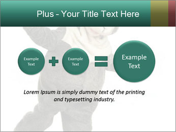 Funny grey rabbit PowerPoint Template - Slide 75