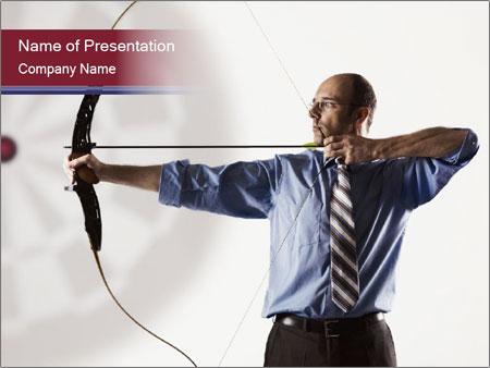 Determined handsome businessman PowerPoint Templates