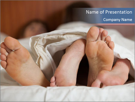 Happy young couple sleeps PowerPoint Template