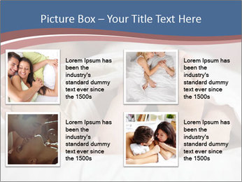 Happy young couple sleeps PowerPoint Template - Slide 14