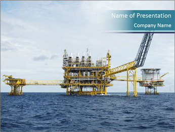 Oil and gas PowerPoint Template - Slide 1