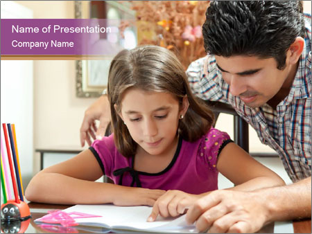 Young father PowerPoint Template