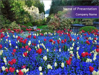 Butchart garden PowerPoint Template - Slide 1