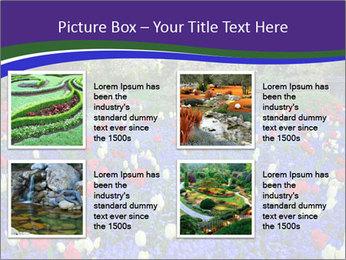 Butchart garden PowerPoint Template - Slide 14