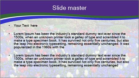 Butchart garden PowerPoint Template - Slide 2