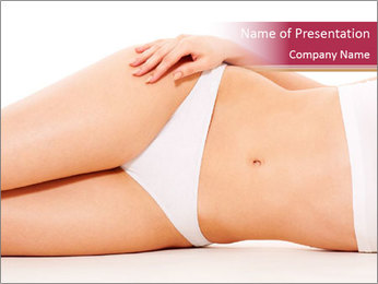 Beautiful woman's body PowerPoint Template