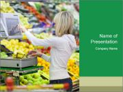 Woman shopping PowerPoint Templates
