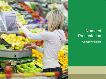 Woman shopping PowerPoint Template - Slide 1