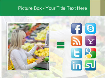 Woman shopping PowerPoint Template - Slide 21