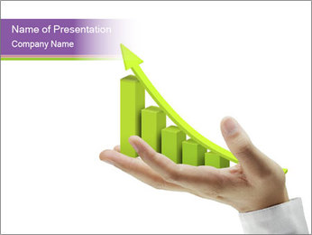Business graph PowerPoint Template - Slide 1