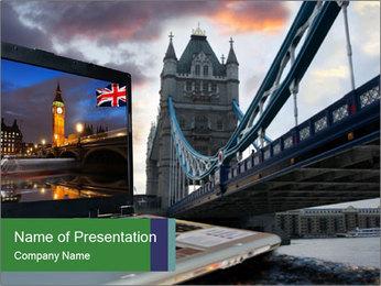 Tower Bridge PowerPoint Template - Slide 1