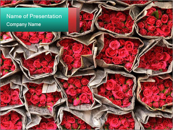 Red roses PowerPoint Template