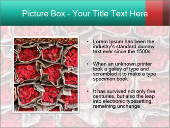 Red roses PowerPoint Template - Slide 13