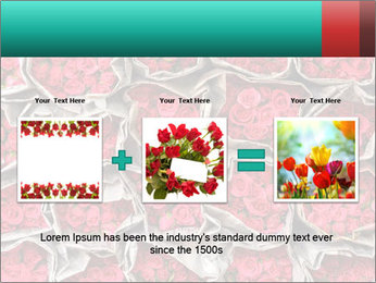 Red roses PowerPoint Template - Slide 22