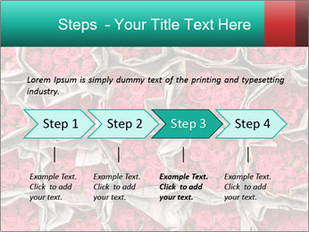 Red roses PowerPoint Template - Slide 4
