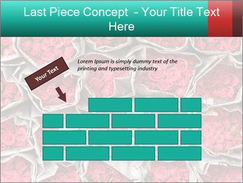 Red roses PowerPoint Template - Slide 46