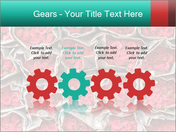 Red roses PowerPoint Template - Slide 48
