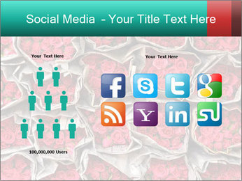 Red roses PowerPoint Template - Slide 5