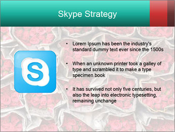 Red roses PowerPoint Template - Slide 8