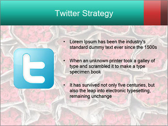 Red roses PowerPoint Template - Slide 9