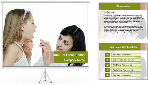 Doctor looking PowerPoint Template
