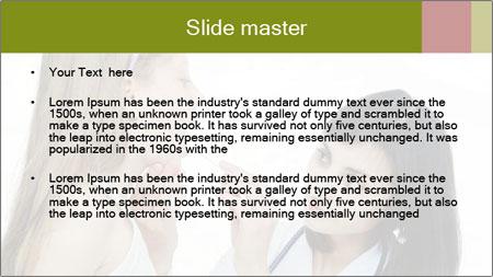 Doctor looking PowerPoint Template - Slide 2