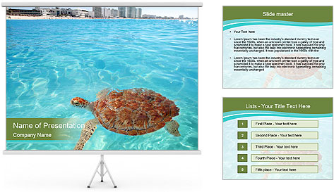 Green sea PowerPoint Template