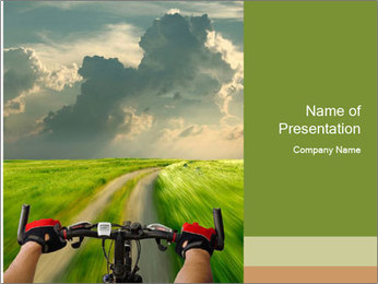 Bicycle riding PowerPoint Template - Slide 1