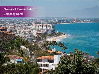 Vallarta city PowerPoint Template - Slide 1