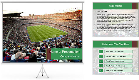 FC Barcelona PowerPoint Template
