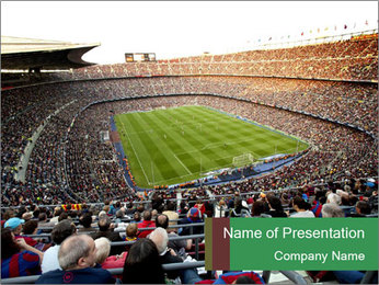 FC Barcelona PowerPoint Template - Slide 1