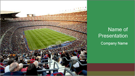 FC Barcelona PowerPoint Template