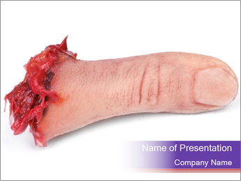 Human finger PowerPoint Template - Slide 1