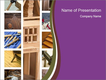 Carpentry collage PowerPoint Templates