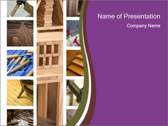 Carpentry collage PowerPoint Template