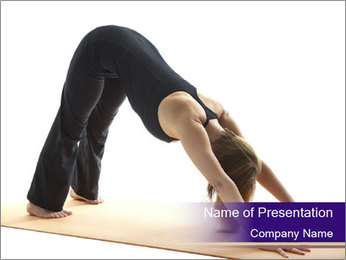 Yoga PowerPoint Templates - Slide 1