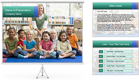 Portrait with teacher PowerPoint Template