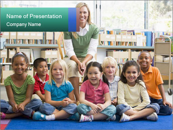 Portrait with teacher PowerPoint Template - Slide 1