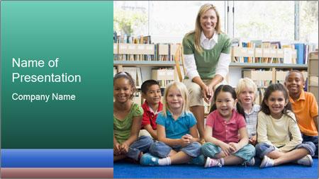 Portrait with teacher PowerPoint Template